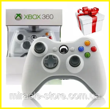 Безпровідний геймпад джойстик Xbox 360 Wireless Controller Білий