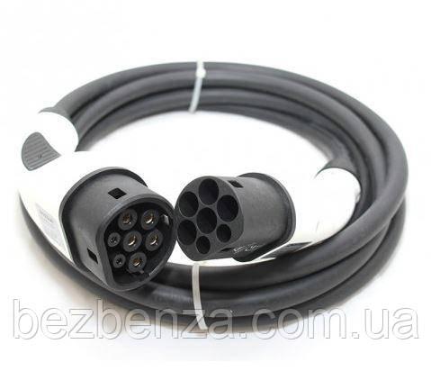 Зарядний кабель 32A (3 фазі) Type2 IEC62196-2 (станція) to Type2 IEC62196-2 (авто)