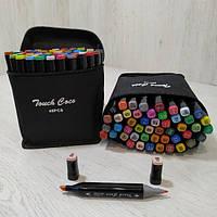 Набор двусторонних маркеров Touch для рисования и скетчинга на спиртовой основе 48 штук