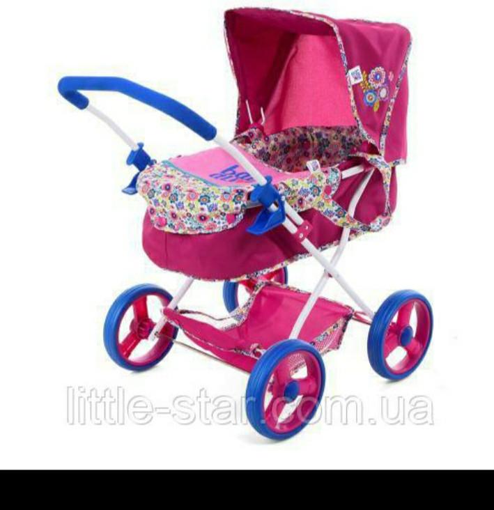 Стильна коляска для ляльки D86491 з люлькою-перенесенням і кошиком,63-38-57см