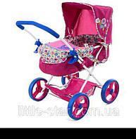 Стильна коляска для ляльки D86491 з люлькою-перенесенням і кошиком,63-38-57см, фото 1
