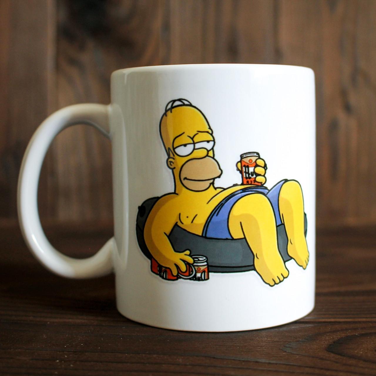 Кружка с принтом Гомер Симпсон. Homer Simpson. Чашка с фото