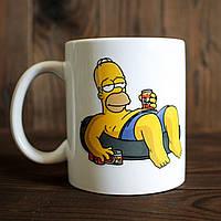 Кружка с принтом Гомер Симпсон. Homer Simpson. Чашка с фото, фото 1