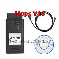 Программатор ЭБУ MPPS V16 ECU профессиональный автомобилей для чип тюнинга EDC15 EDC16 EDC17