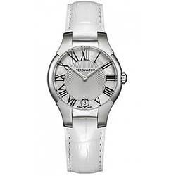 Часы наручные женские Aerowatch 06964 AA03 кварцевые с датой, белый кожаный ремешок