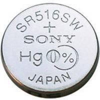 Батарейка таблетка SR516SWN Sony блистер (1шт)