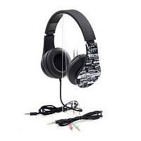 Наушники накладные проводные с микрофоном PrologiX MH-A960M Black