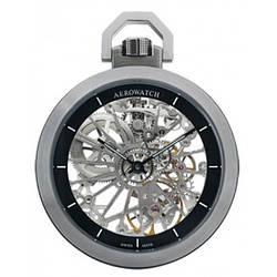 Часы карманные Aerowatch 50818 AA01SQ механические, скелетон, современный дизайн