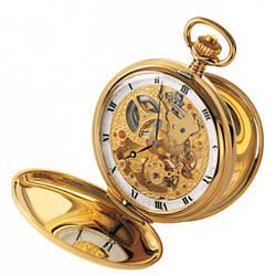 Часы карманные Aerowatch 56819 J501 механические с позолотой, скелетон, две крышки