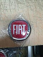 Емблема значок на капот, багажник Fiat Doblo, Фіат Добло 95 мм червоний, фото 1