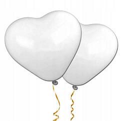 Воздушные шарики Сердце 15 см 100 шт Белый R0667, КОД: 1639304