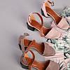 Замшевые босоножки цвета капучино на каблуке, фото 6