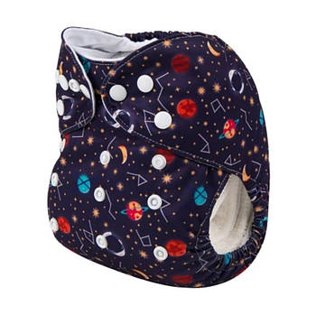 Детский подгузник многоразовый c вкладышем Berni Галактика 3-15кг Синий (54620)