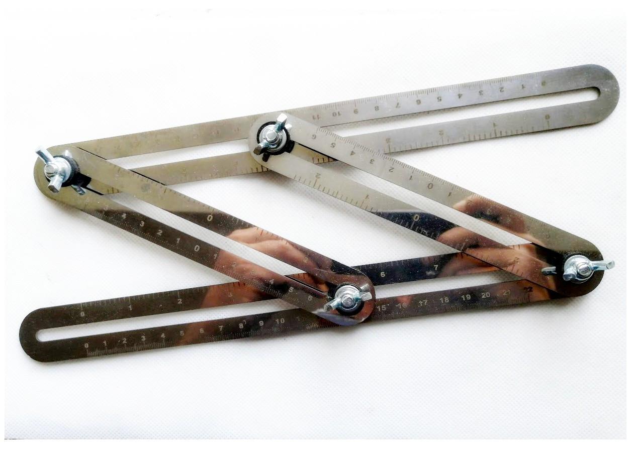 Кутомір нержавіюча сталь з лазерним гравіруванням шкали (un5252)
