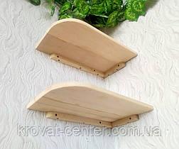 Навісна полиця кутова з дерева від виробника (колір на вибір), фото 3