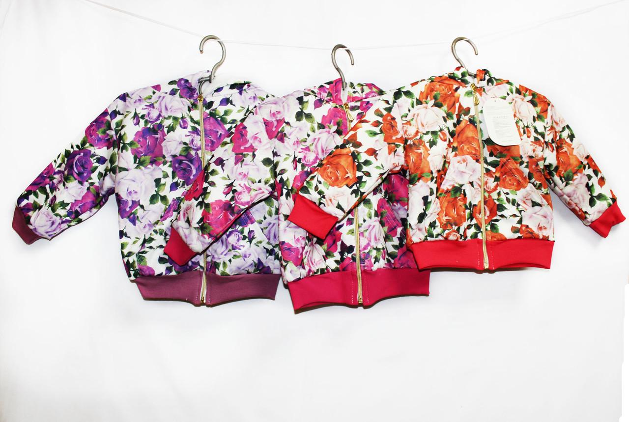 Кофта детская толстовка  на махровой подкладке для девочки. ARD 789