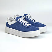 Кеды синие женские замшевые летние перфорация обувь больших размеров Rosso Avangard Mozza Slip BluVelPerf