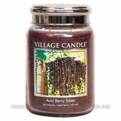 Ароматическая свеча Village Candle Ягоды асаи табак (время горения до 170 ч), фото 2