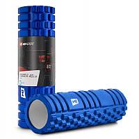 Валик ролик для йоги HOP SPORT 45*14 см, Синий