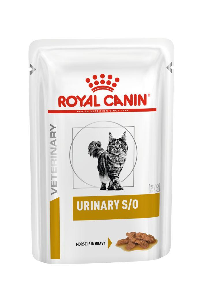Royal Canin URINARY S/O CAT pouches  (шматочки у соусі) 0,085кг