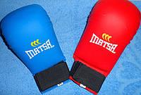 Накладки для каратэ перчатки искусств. кожа размер S-XL