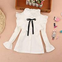 Школьная блузка на девочку, блуза в школу, школьная форма, рр 110-150