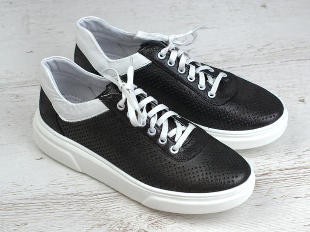 Удобные и легкие черные кожаные летние перфорация женская обувь больших размеров Rosso Avangard Mozza Slip Black Leather Perf1211906251