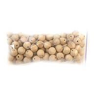Деревянные бусины 16мм (100шт в упаковке) некрашеные, натуральные из древесины груши