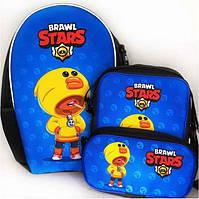 Набор 3 в 1: рюкзак, сумка и пенал с героями Brawl Stars / Бравл Старс Леон Утка