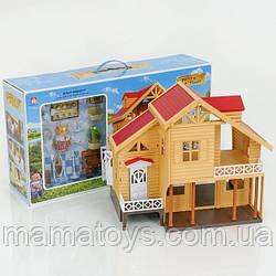 Загородный домик 012-03 Счастливая семья с Подсветкой флоксовые животные