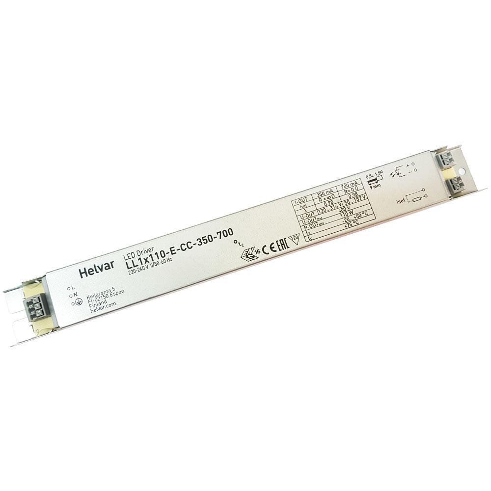 Драйвер светодиода 350-700mА 110Вт блок питания  LL1X110-E-CC-350-700 Helvar 11929о