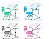 Комплект ученический одноместный Растущая парта и стул трансформеры FunDesk Sole II