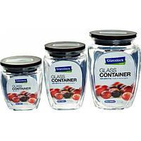 Набор емкостей для сыпучих продуктов Glasslock HG-638 (350ml + 500ml + 815ml) (HG-638), фото 1