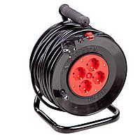 Удлинитель электрический на катушке 25 м с сечением 1,5 кв.мм