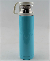 Вакуумный термос из нержавеющей стали BENSON BN-46 Голубой (350 мл) / термочашка