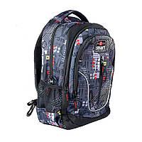 Рюкзак школьный SMART TN-07 Global черн/сер  558630, фото 1