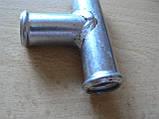 Соединитель Тройник 18х18х18мм шлангов металлический гладкий автомобильный для на авто, фото 2