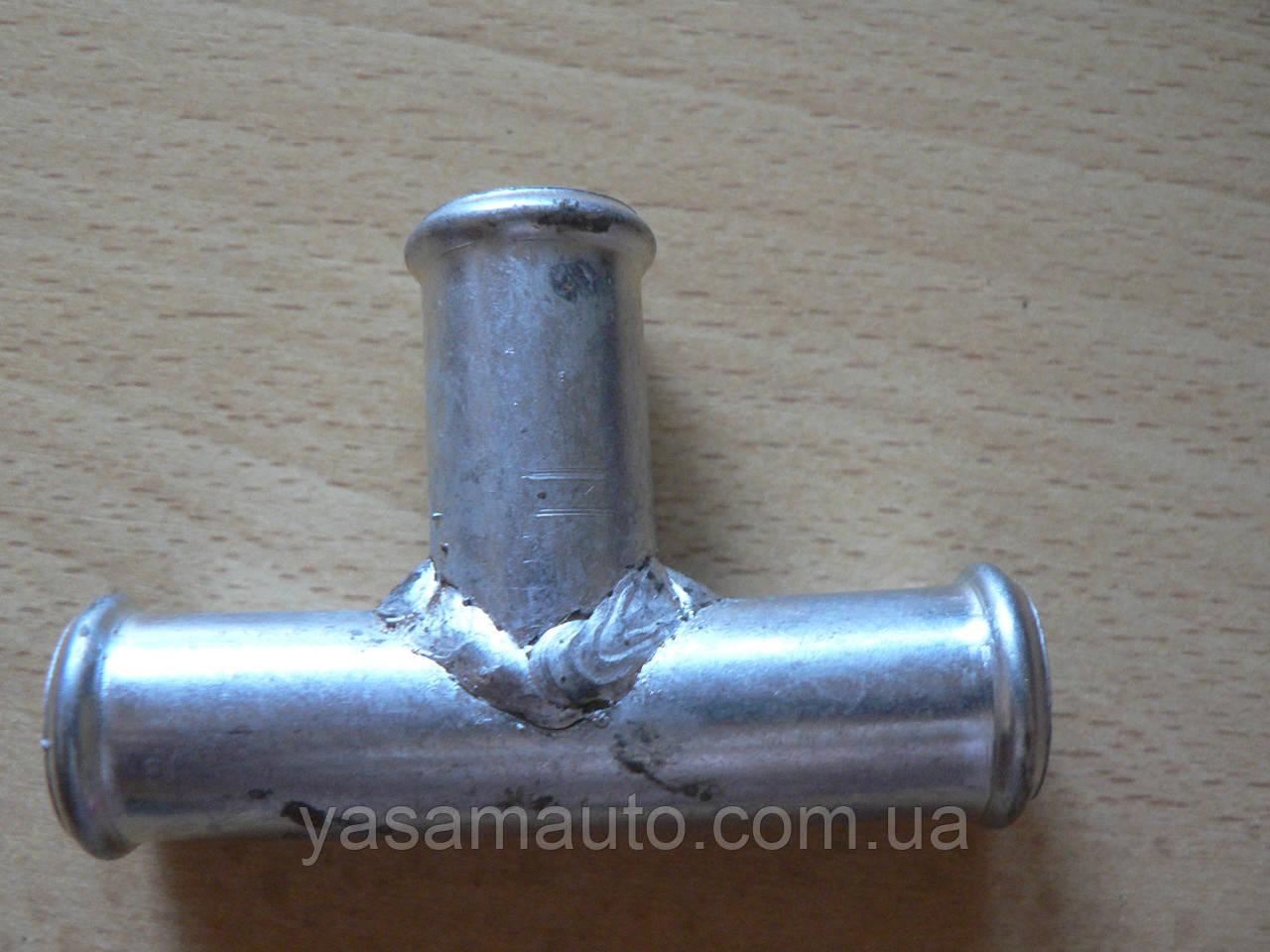 Соединитель Тройник 18х18х18мм шлангов металлический гладкий автомобильный для на авто