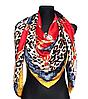 Шелковый платок Fashion Катания 135*135 см красный