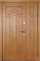 Двери входные  полуторные Модель 110 (дуб золотой)