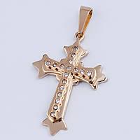 Кулон крест мужской stainless steel