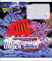 Тетрадь 18 листов линия А5 набор 25 шт. в упаковке YES WORLD UNDER 764699
