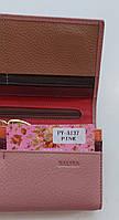 Жіночий шкіряний гаманець Balisa PY-A137 пінк Шкіряні гаманці і портмоне оптом Одеса 7 км, фото 3