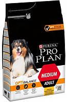 Сухой корм Purina Pro Plan Dog Medium Adult с курицей 14 кг