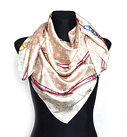 Шелковый платок Fashion Верона 90*90 см бежевый
