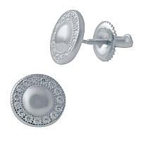 Серебряные серьги LOOk с фианитами (2036227)