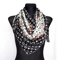 Шелковый платок Fashion Верона 90*90 см черно-белый