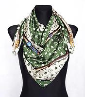 Шелковый платок Fashion Верона 90*90 см оливковый