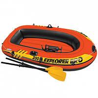 Лодка надувная Intex 58357 Explorer 200 Pro на 2 человека Красный int58357, КОД: 110891