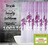 """Тканевая шторка для ванной комнаты из полиэстера """"Jade"""" Tropik, размер 180х200 см., Турция, фото 3"""